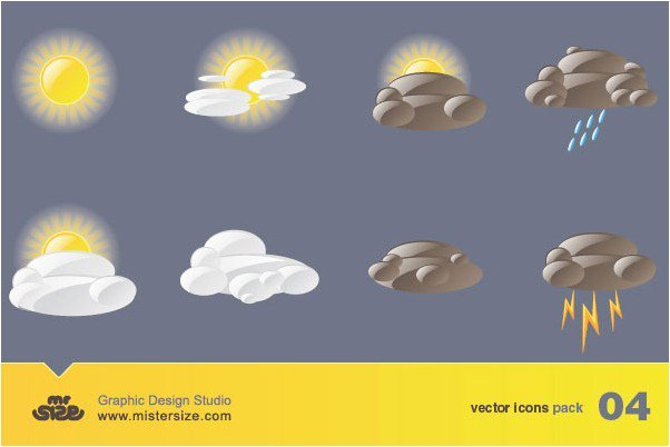Weather Free Vector Icons Pack