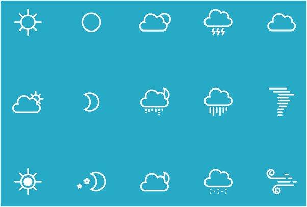 Weather Icons 25