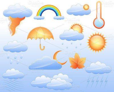 Weather Icons Vectors Set