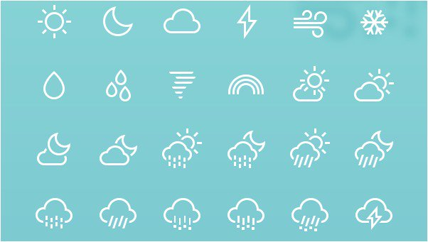 Weather icons 85