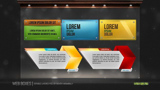 Web Boxes PSD