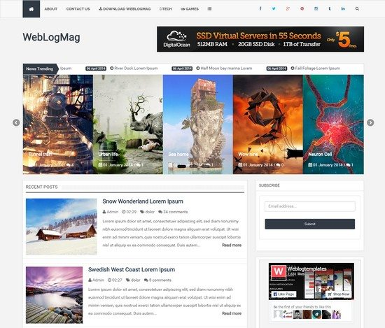 WeblogMag - Responsive Professional Blogger Template