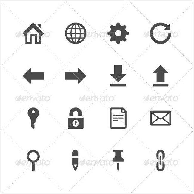 Website icons set vector illustration