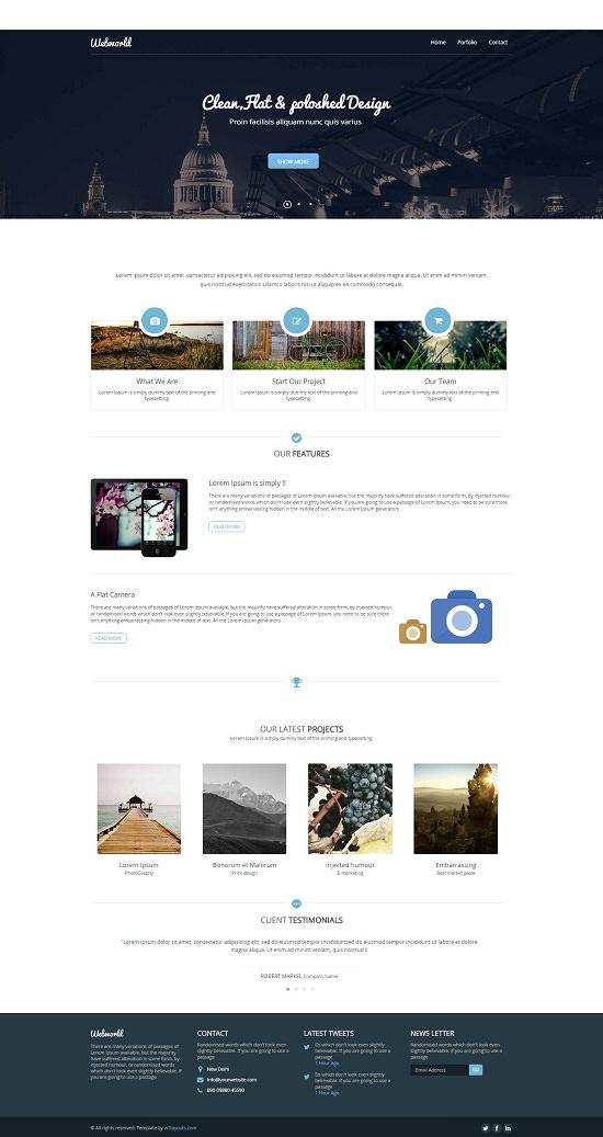 Webworld Corporate Flat Responsive web template