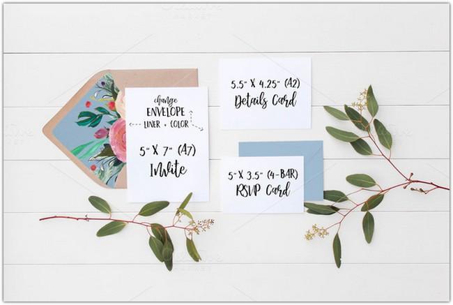 Wedding Suite Mockup - Eucalyptus 8
