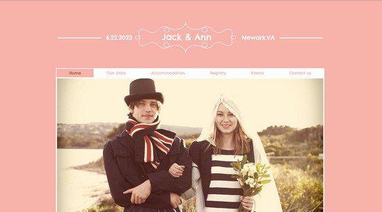 Wedding Website Website Template
