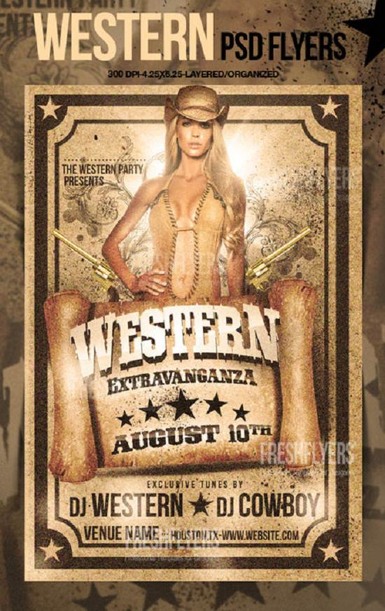 Western Most Wanted Flyer Template