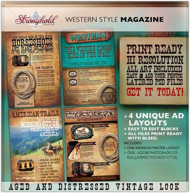 Western Vintage Magazine Ads