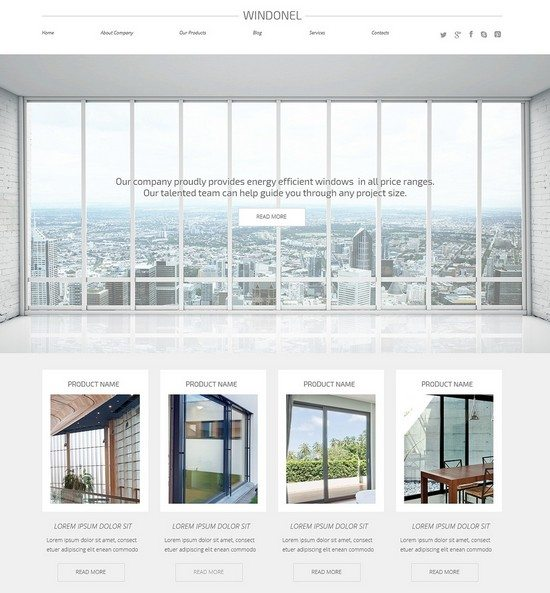 Windows & Doors Responsive WordPress Theme