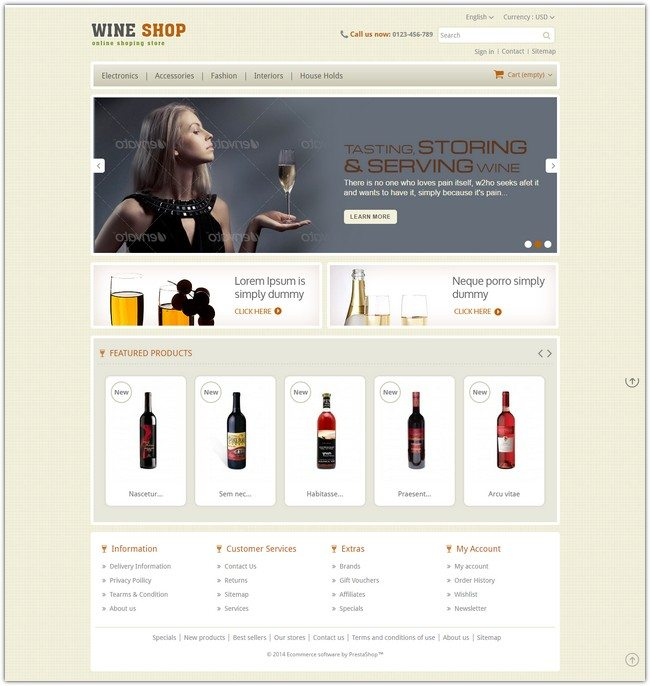 Wine Shop – Prestashop Responsive Theme