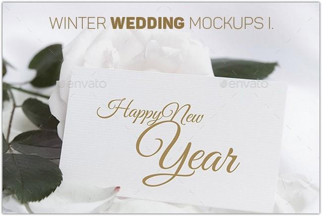 Winter Wedding Mockups I.