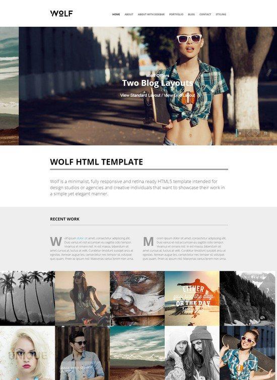 Wolf - Responsive Creative HTML5 Template
