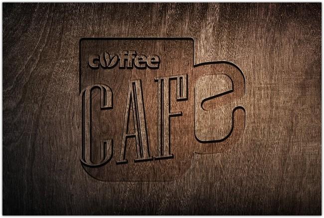 Wooden Logo Mockup