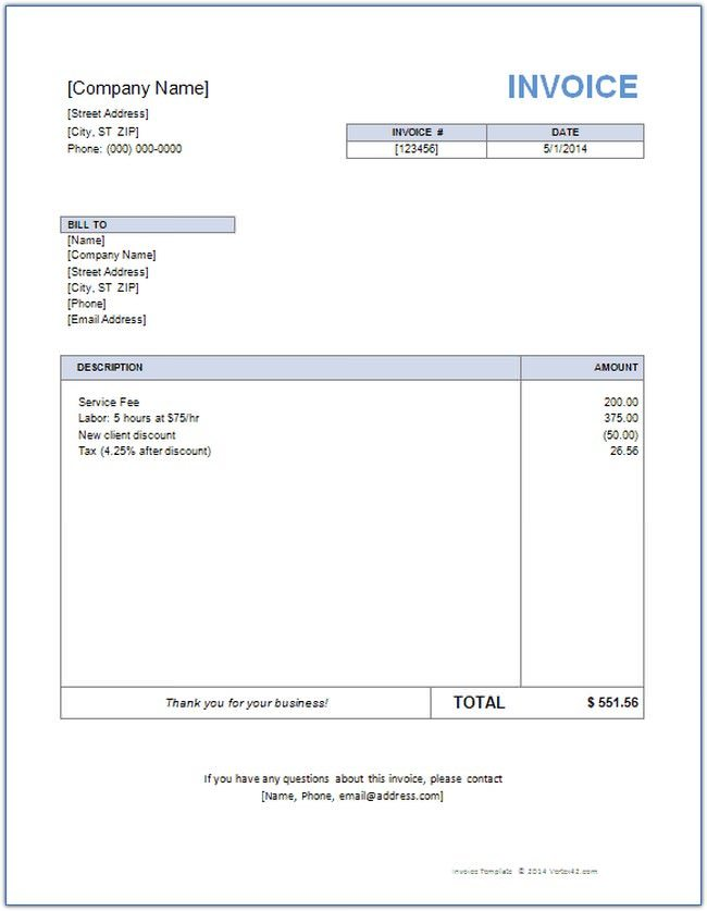 19 Best Microsoft Word Invoice Templates And Samples