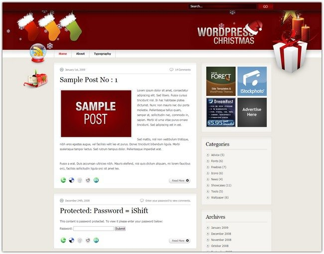 WordPress Christmas