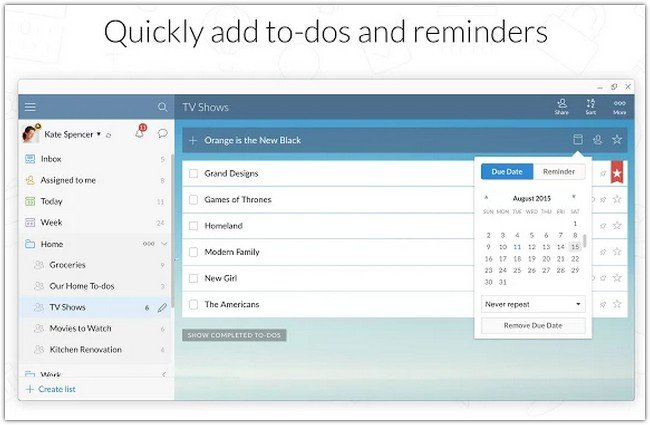 Wunderlist for Chrome