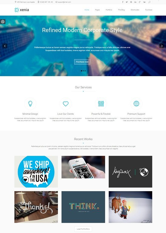 Xenia - Refined HTML 5 CSS 3 Corporate Template