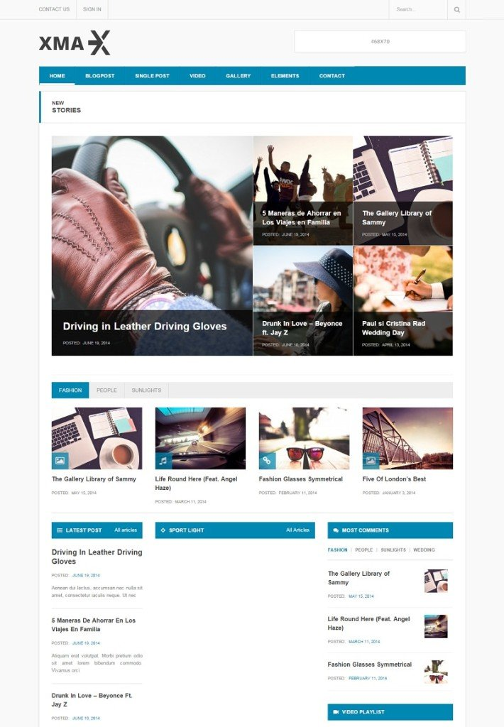 Xmax- Free Magazine WordPress Theme