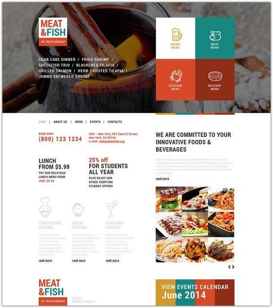 Your Restaurant Joomla Template