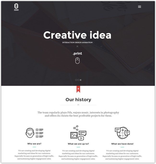 ZER0 - HTML5 Digital Creative Agency Template