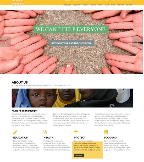 Zakat - Onepage Multipage WordPress Charity Theme