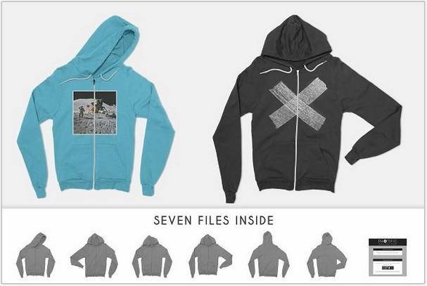 Zip-Up Hoodie Sweatshirt Mockup