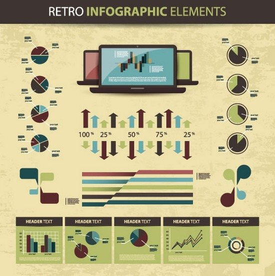 business scheme and Infographics elements vector 02