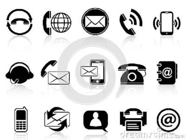 contact-icons-set-isolated-white-background