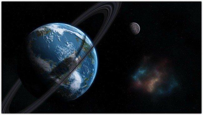 earth circle moon satellite clot stars
