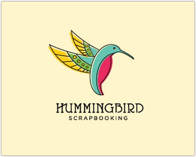 hummingbird scrapbookin