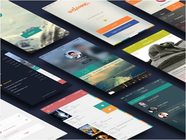 iCollection UI Kit – 38 PSD Screens