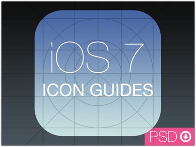 iOS 7 Icon Guides PSD
