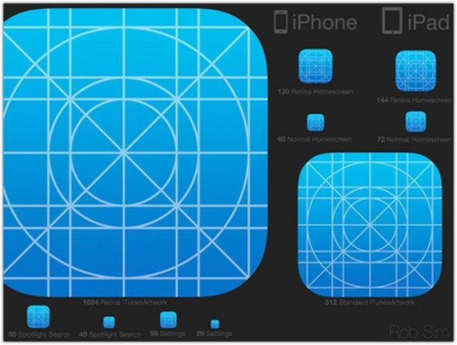 iOS 7 Icon Kit V2