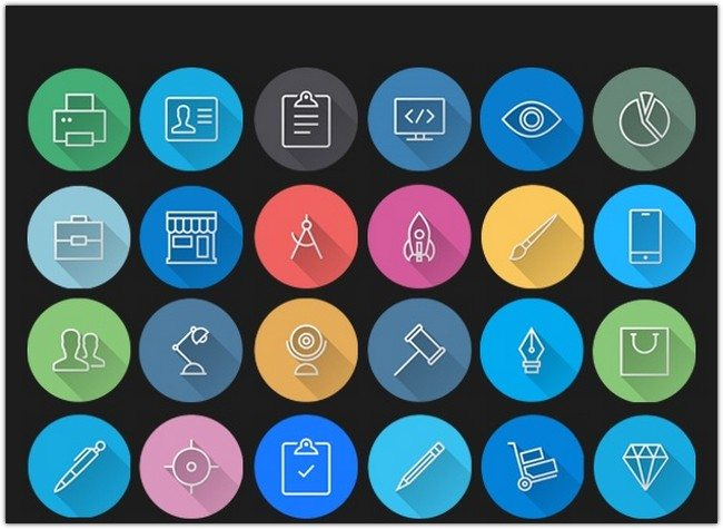 iOS7 Icons – Colorful Flat Icons Pack