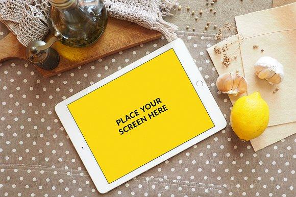 iPad Air 2 Mockup in Polka Dots