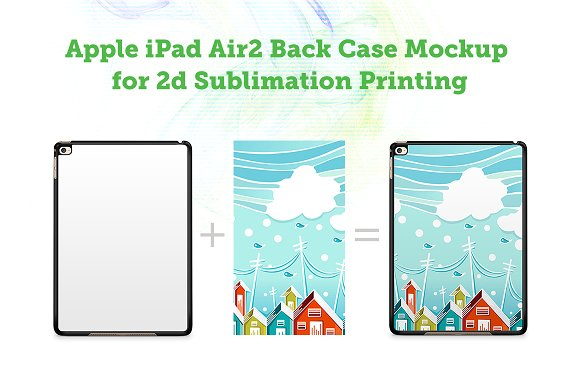iPad Air2 2d Sublimation Mock-up