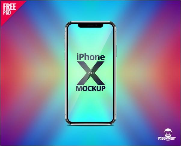 iPhone X PSD Mockup