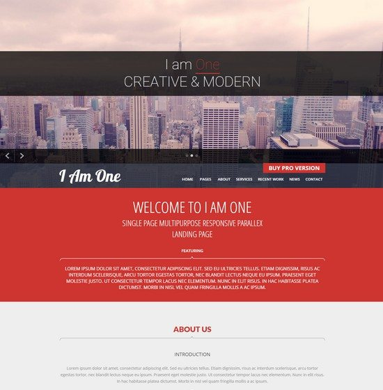 I Am One – Free WordPress theme
