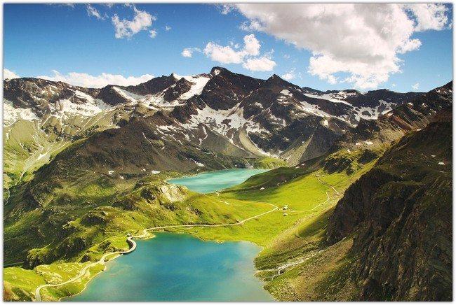italian landscape mountains nature large