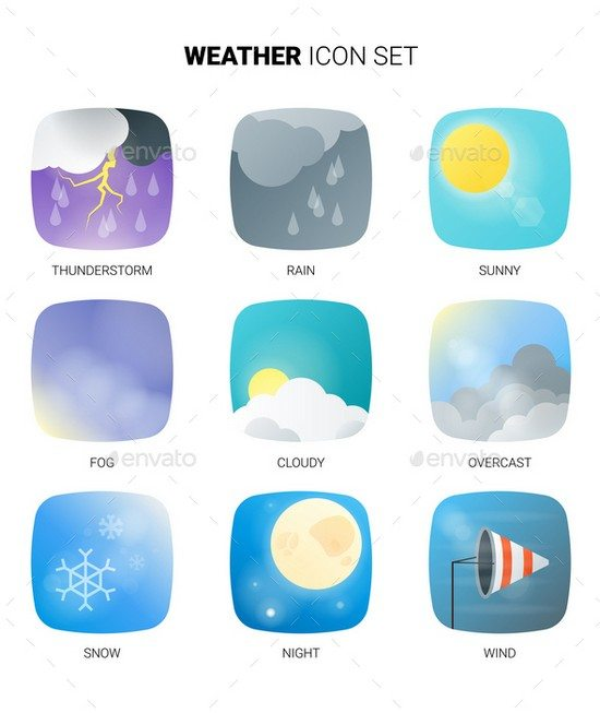 material weather icons