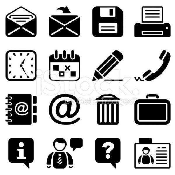 office & contacts icon set