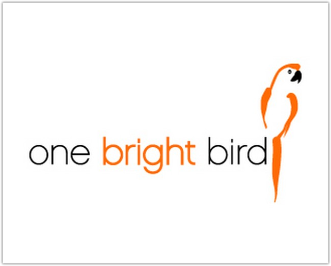 one bright bird