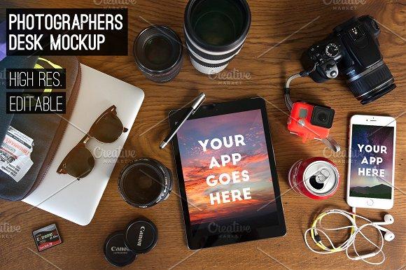 photographer's desk [MockUp Pack]