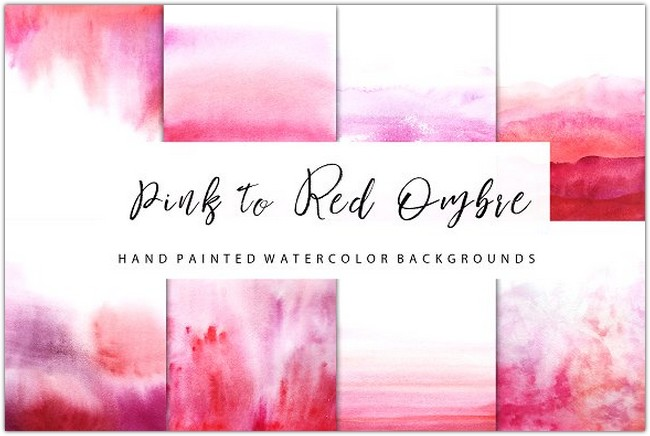 red watercolor ombre backgrounds