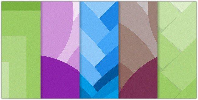 set of material design backgrounds