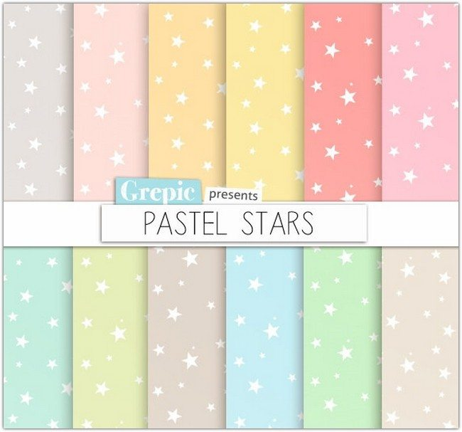Stars patterns pastel backgrounds