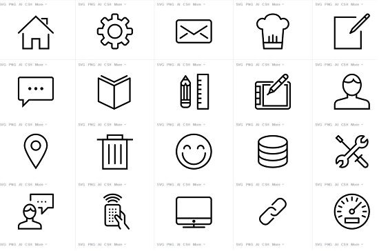 streamline icon set free pack