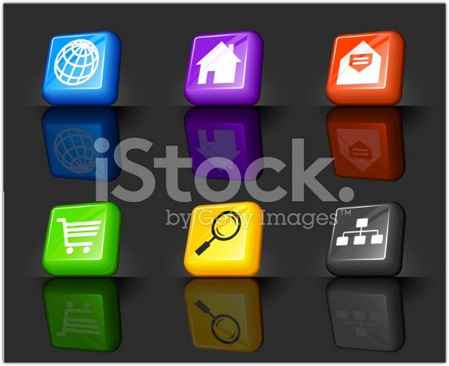 technology and communication internet royalty free vector icon set