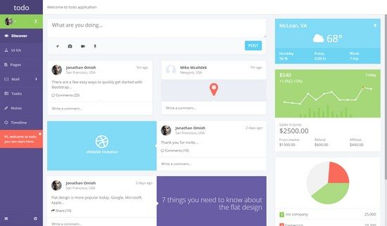 todo - Web Application and Admin Panel Template