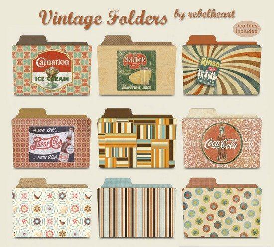 vintage folders
